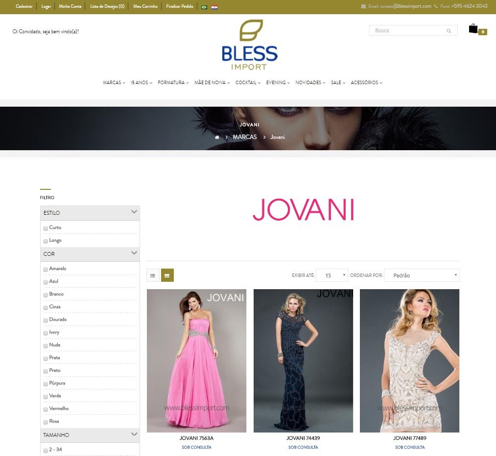 comprar vestidos online no Paraguai