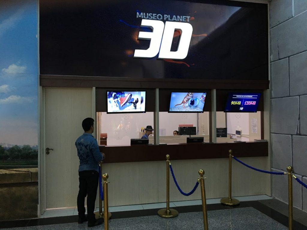 Bilheteria do Museu 3D no Paraguai